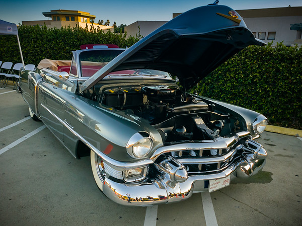 This classic Caddy is the last of the vehicles in the coned off section