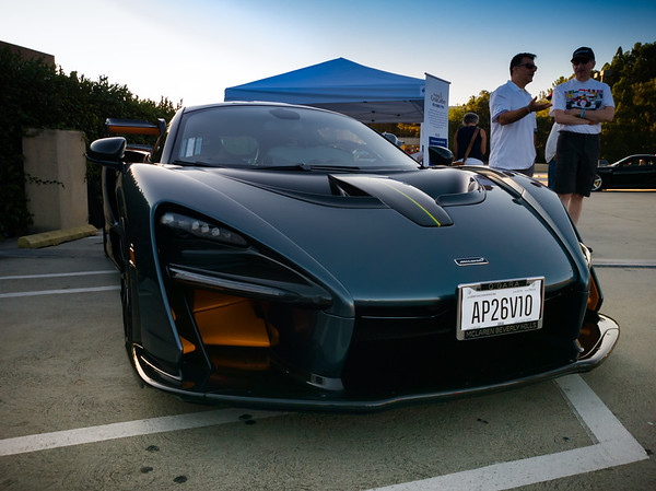 I first saw the McLaren Senna at E3 (and most recently spotted a couple at The Quail), but with a price tag hovering around $1 Million they are far from common.  This is the first time I have seen one in PV.