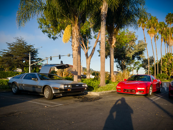I think this is the first photo I have of my NSX parked next to a Delorean