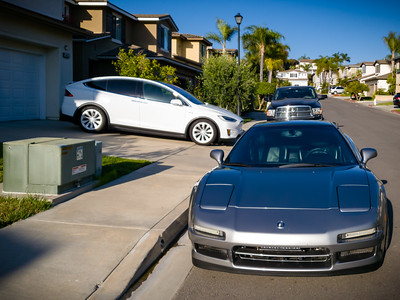 Ramon has invited a bunch of the NSX gang to his house for a party.  This is Valerie and my first time visiting his home, but we drove down in our Model X.  I could not risk driving my NSX this evening due to an issue Ramon has not had time to address.