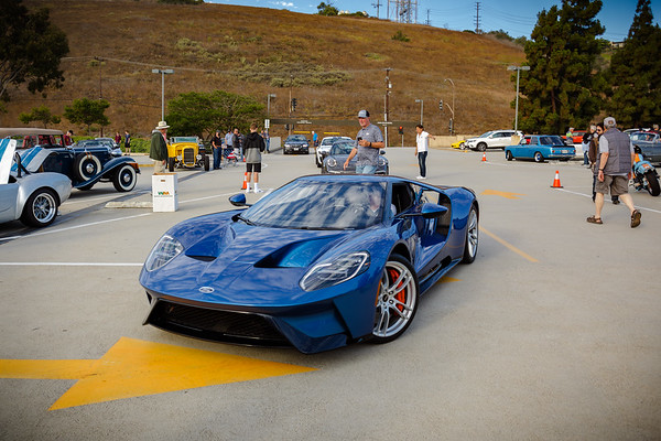 A Ford GT arrives