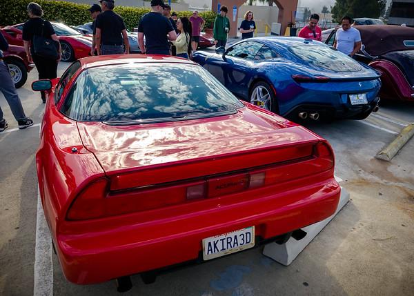 2000 Acura NSX-T and 2021 Ferrari Roma