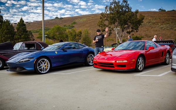 2021 Ferrari Roma and my 2000 Acura NSX-T