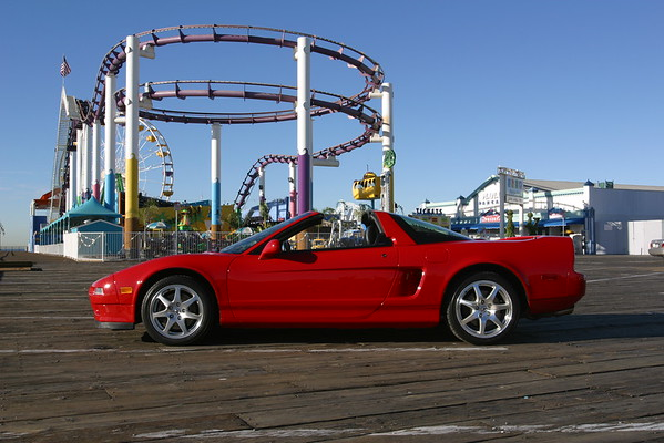 Here's a shot of my NSX with the rollercoaster at Pacific Park...