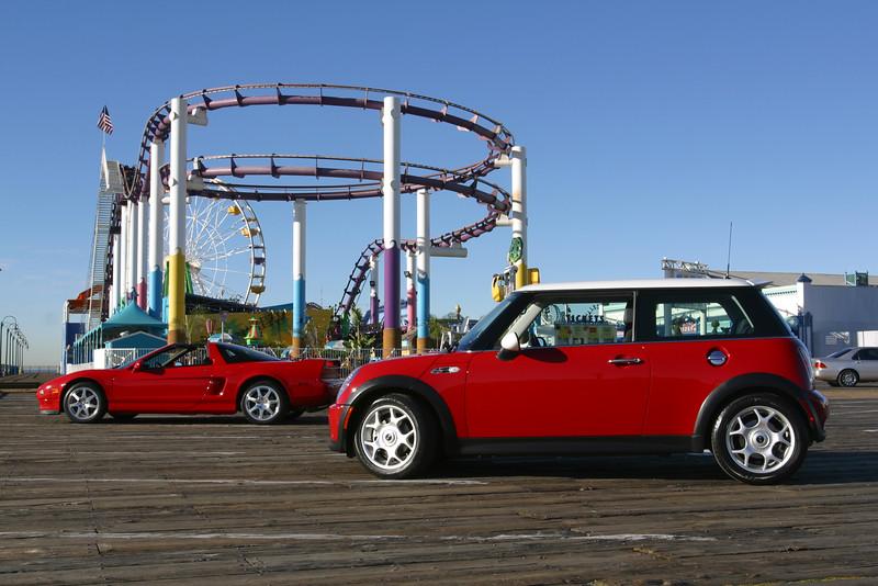 2003 12/18: NSX and Mini in Santa Monica