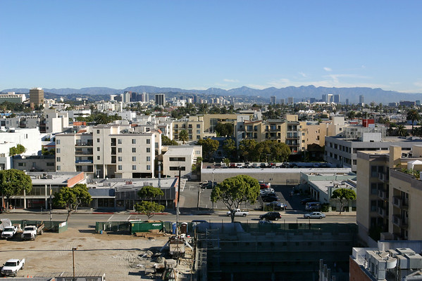 I can see, Westwood, Century City, and the mountains beyond!