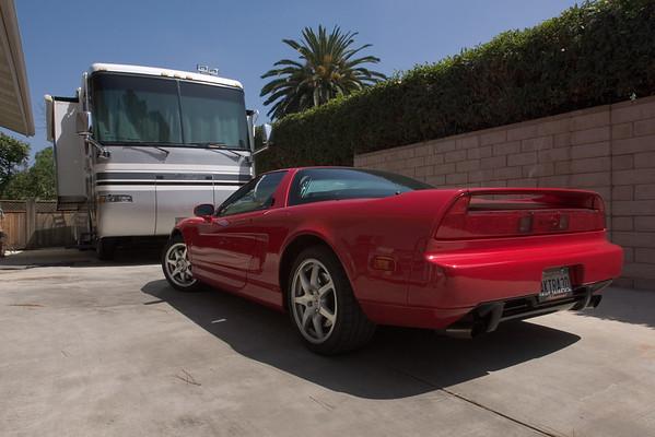 Today I park my NSX at John's house