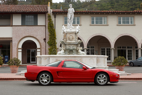 This is the third time since 2000 my NSX has posed for a photo at Malaga Cove Plaza