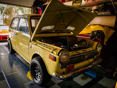 My dad owned one of these when I was growing up...it was the perfect solution for the 70's gasoline crisis.  And he was very proud to drive the first automobile model that Honda ever sold in the United States.