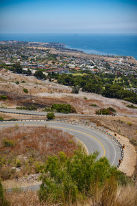 My favorite stretch of Palos Verdes Drive East...whether I'm running, riding, or driving, it's hard to beat it.  With a 50mm prime lens on my DSLR, it's hard to get a good single shot that illustrates why