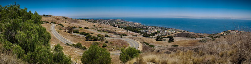 Smartphone Panorama better illustrates why this is my favorite stretch of Palos Verdes Drive East