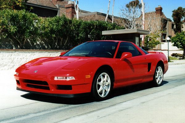 If we get a third car, we'll have to request permission to park it in our townhome complex's guest lot...but the NSX will always get to be in the garage (June, 2001)