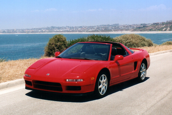 Akira's NSX with RAT Beach as a backdrop