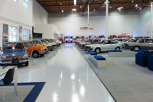 My first peek inside this private collection of Acura and Honda vehicles (I am snapping much better shots with my DSLR)