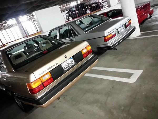 I park next to a pair of classic Audis