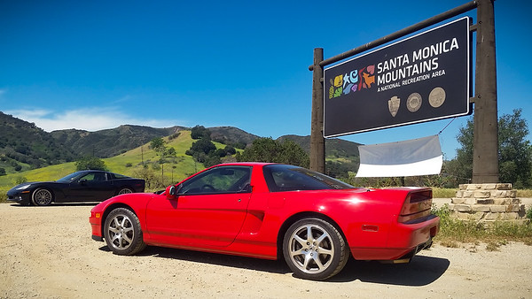 Almost looks like I'm crusing the canyons with this Corvette...but its driver is not here