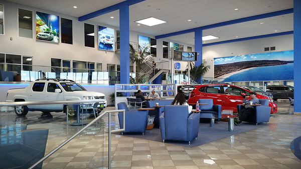 MARCH - Scott Robinson recently remodeled the local Honda dealership.  The service waiting area is a dramatic improvement over the old one, but it lacks my favorite decoration.