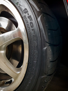 With yet another tire discontinued, I have been forced to try a new one...and this will be my first experience with BF Goodrich as a brand.  KeN SaX recommended this g-Force Rival 1.5 S as having similar characteristics to the Kumho ECSTA XS which I still have on the rears.