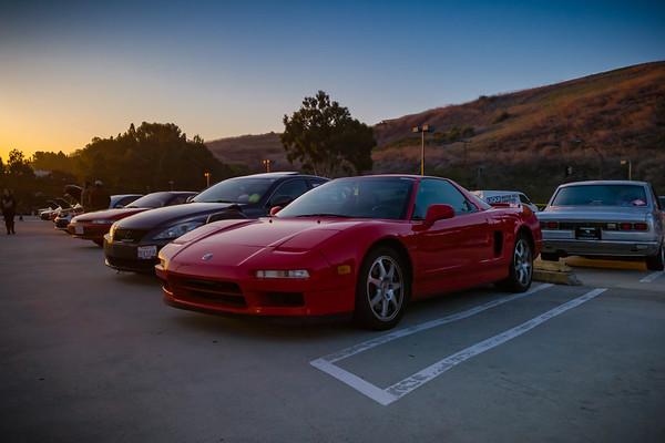 My NSX at sunrise