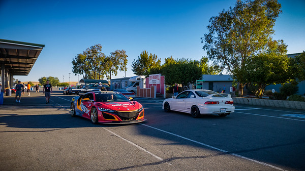 The Pikes Peak NSX GT3 passes by an Integra Type R...this is going to be an interesting track event
