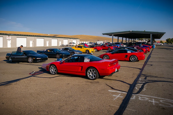 Thunderhill paddock...you have to arrive very early to find a parking space under the canopies