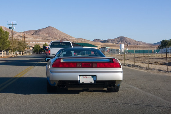 After lubing my innards with a pair of grease pucks, I follow Chris (Cdub) to Willow Springs