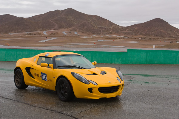 Lotus Elise with the Streets of Willow as a backdrop
