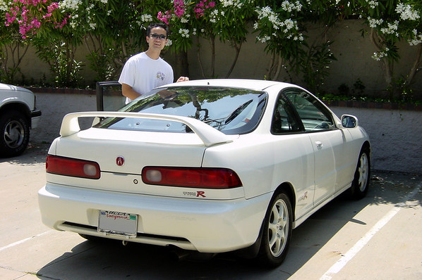 Pete picks me up in his Integra Type R