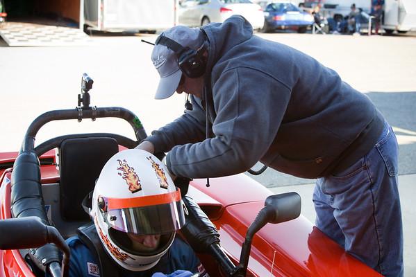 Jon prepares to race
