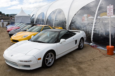 Acura NSX Parking Only in front of our hospitality tent