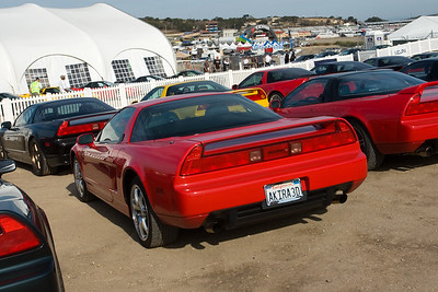 I have parked my NSX towards the end of the second row...not one of the earliest to arrive, but far from the latest