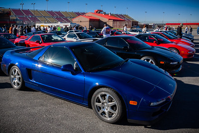 NSXCA has the strongest showing of all the car clubs in attendance (96+)