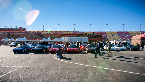 At the California Speedway, I park front row center...for now