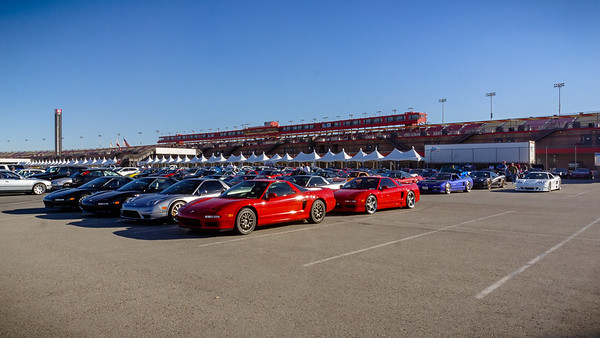 Once again, NSXs fill the infield parking lot