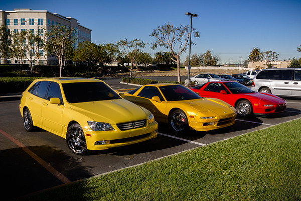 DAY 2 - This morning, I find John and Tina's yellow cars in the Fairfield lot...