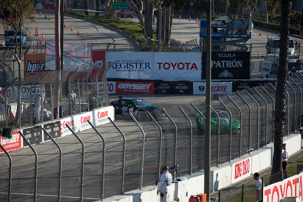 This is the Long Beach Grand Prix's Turn 11, the final hairpin before the straight that continues to the start/finish line
