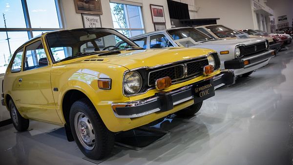 Where would Honda be without the CIVIC?  This is the car that REALLY put them on the map.  And the museum has many generations of Civics on display