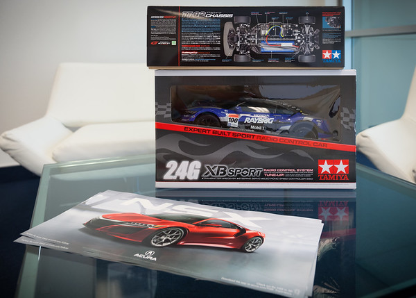 Raffle prizes and free posters of the new NSX