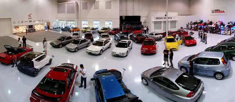 Quick smartphone panorama of the collection from above