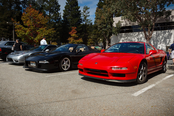 When we arrive at Canepa in Scotts Valley, I end up parking next to a very familiar (and furry) NSX