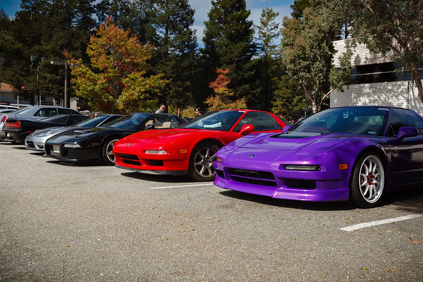 I keep crossing paths with this purple NSX