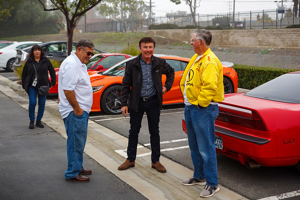 Mario Cano talks with John Watts of American Honda Motor Co
