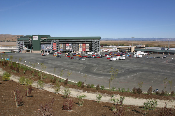 Hillside view of Infineon's lot