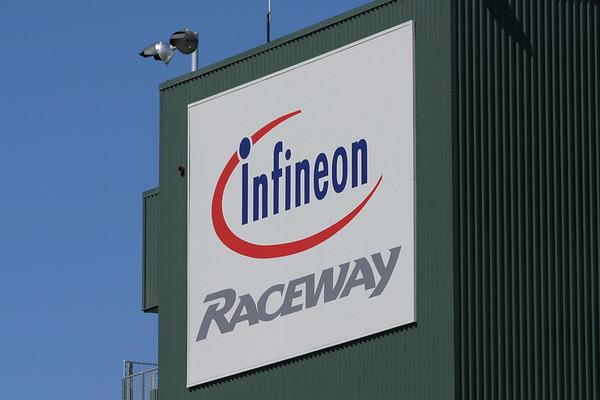 Infineon Raceway grandstand logo