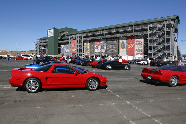 My NSX parked among the masses near the main grandstand