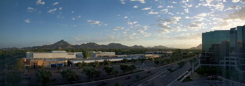 DAY 3 - One last sunrise from The Ritz-Carlton, Phoenix (panorama)