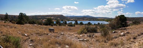 Watson Lake from parking lot panorama (hugin auto-stitched)