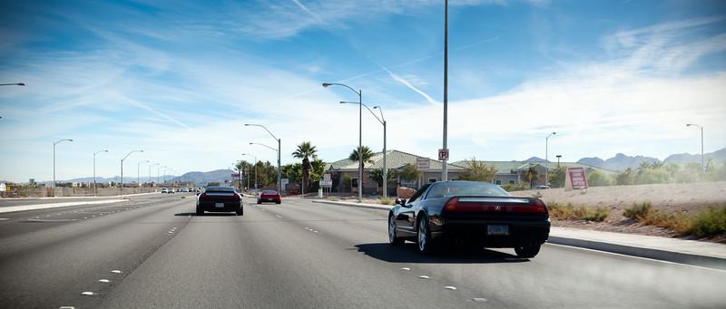 Following Oregon NSXers down Silverado Ranch Blvd en route to Findlay Acura