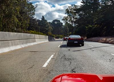 Driving through Golden Gate Park