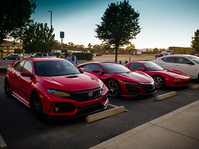 The new Civic Type R is huge compared to the NC1 NSX...and both cars make the original look tiny.  I recognize the owner of this NC1.  I met him at NSXPO 2015...he's the original owner of the second NA1 NSX sold in North America (was outbid by George Lucas for the first).  I think that makes him the fifth owner I have met to own both generations.